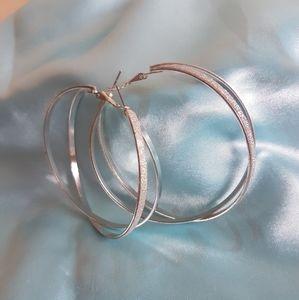 2 tier hoop earrings